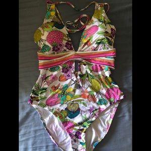 Trina Turk one piece swimsuit size 14